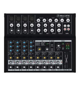 Mackie Mix12FX 12Ch Compact Mixer 4-Mic/Line & 4-Stereo Inputs & FX