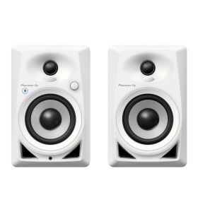 "Pioneer DJ DM-40BT-W 2Way 4"" Active Speaker 21W With Bluetooth PAIR"