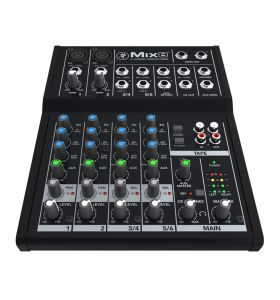 Mackie  Mix8 8Ch Compact Mixer with 2-Mic/Line 2-Stereo+Aux Inputs